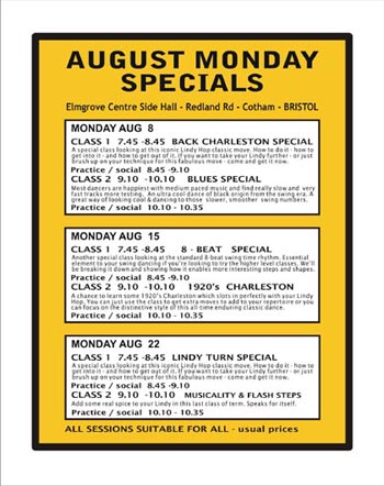 August Monday Specials