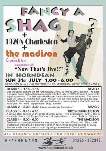 Fancy a Shag + 1920s Charlston + The Madison